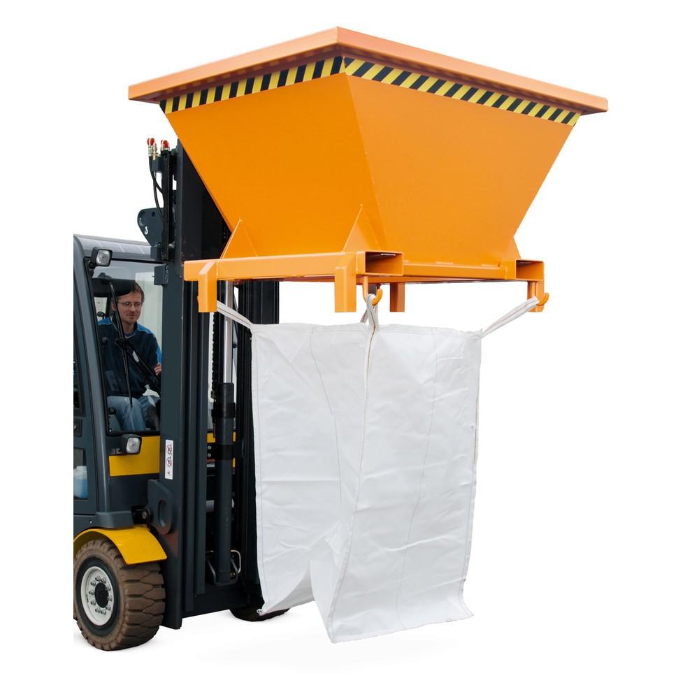 Funil de enchimento para sacos de transporte BIG BAG, AxLxP 990 x 1.710 x 1.320 mm