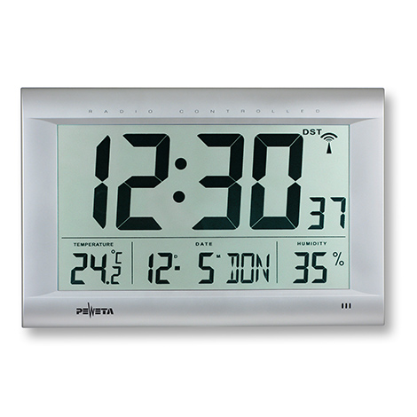 Funk-Digitaluhr mit Sekundenanzeige