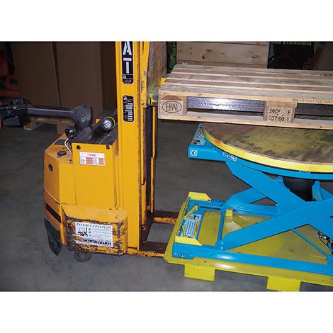 Fußgestell für Aufnahme Gabelzinken für Druckluft-Hubtisch Bishamon