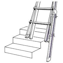 Fußverlängerung für Teleskop-Sprossen-Stehleiter HYMER ® Telestep. Bis 450 mm