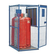 Gallerskåp för gasflaskor, med 1 dörr