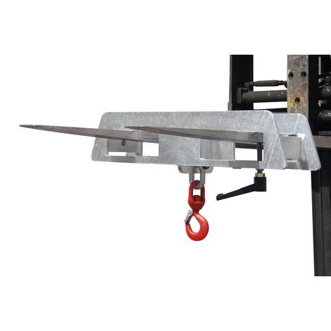 Gancho de carga para empilhador frontal, galvanizado