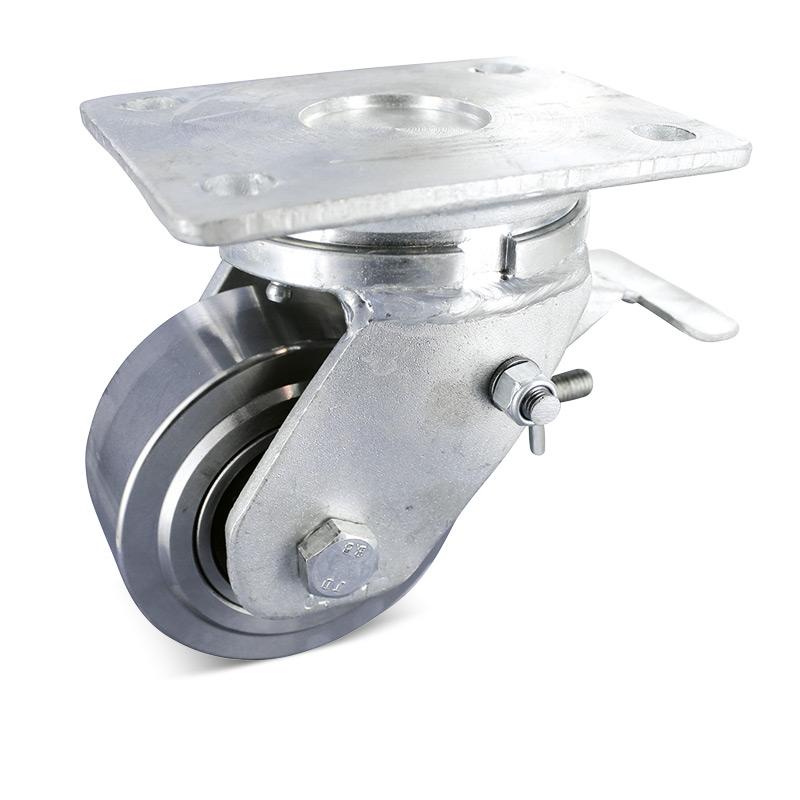 Ganzstahl-Schwerlast-Lenkrollen mit Feststeller. Tragkraft 1500 - 6000 kg