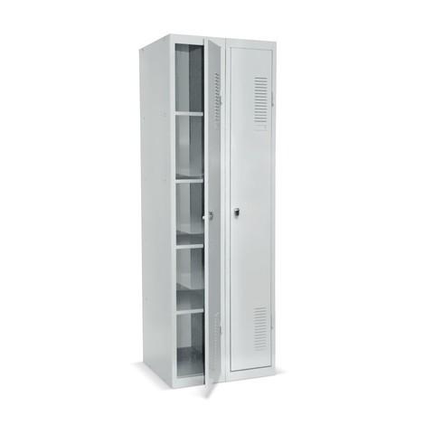 Garderobe- en universele locker BASIC: enkel of dubbel. Voordelig instapmodel