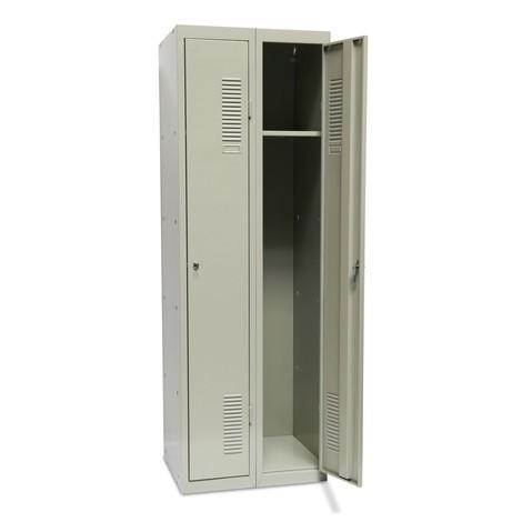 Garderobe- en universele locker BASIC. Met 1 of 2 compartimenten