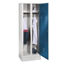 Garderobekast, 1 dubbel compartimt.+poten+draaivergr., 610mm