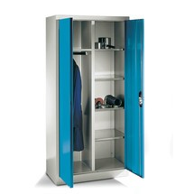 Garderobekast C+P, 6 vakken + kledingstang, hxbxd 1.950 x 930 x 500 mm