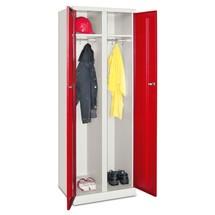 Garderobekast, openslaande deuren, afz. afsluitbaar