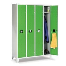 Garderobekast Portofino met ventilatiegaten, 2 compartimenten, hxbxd 1.800 x 810 x 500 mm, met poten