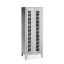 Garderobekast, poten+gaten+draaivergrendeling, 2x400 mm