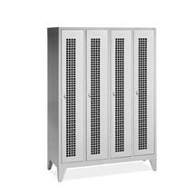 Garderobekast, poten+gaten+draaivergrendeling, 4x400 mm