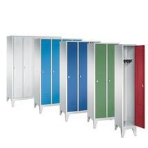 Garderobekast, poten+gleuven+draaivergrendeling, 4x400 mm