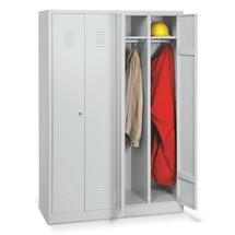 Garderobelocker BASIC. Tot 2 dubbele compartimenten