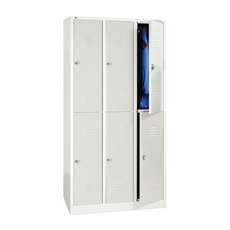 Garderoben-Schließfachspind BASIC mit 4 oder 6 Schließfächern