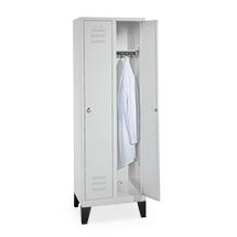 Garderobenschrank BASIC mit 2 Abteile à 300 mm Breite