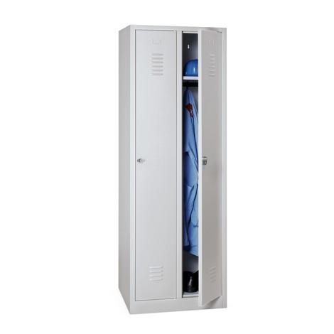 Garderobenschrank BASIC mit Sockel + Drehriegelverschluss