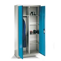 Garderobenschrank C+P, 6 Fächer + Kleiderstange, HxBxT 1.950 x 930 x 500 mm