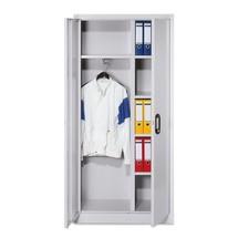 Garderobenschrank C+P Classic mit Kleiderstange und Fächern, HxBxT 1.950 x 930 x 400 mm