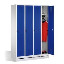 Garderobenschrank C+P Evolo,  4 Abteile, HxBxT 1.800 x 1.600 x 500 mm