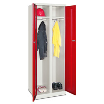 Garderobenschrank PAVOY mit Flügeltür. 2 Abteile