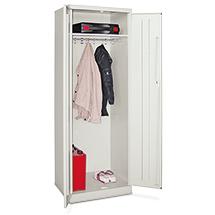 Garderobenschrank PAVOY mit Hutboden und Kleiderstange. 1 großes Abteil