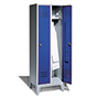 Garderobenschrank,Füße+Löcher+Drehriegelverschl, 2x300 mm