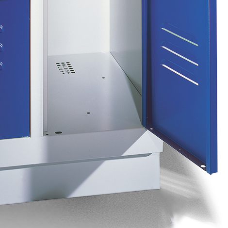 Garderobenschrank,Füße+Löcher+Zylinderschloss, 2x300 mm