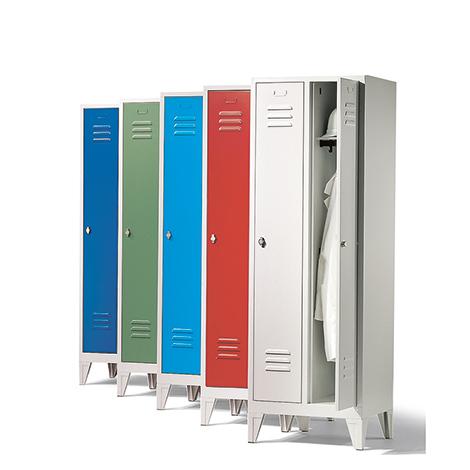 Garderobenschrank,Füße+Schlitze+Zylinderschloss, 2x400 mm
