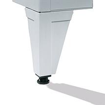 Garderobenschrank,Sockel+Schlitze+Drehriegelverschl,3x400 mm