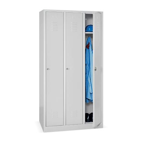 Garderobenspind BASIC mit 2 oder 3 Abteile à 300 mm Breite