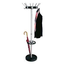 Garderobenständer Classic mit drehbarer Hakenkrone. Höhe 1800mm