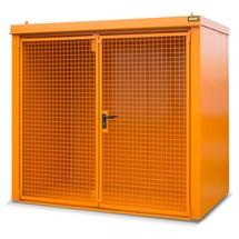 Gascilindercontainer met dak voor max. 45 flessen, brandwerend