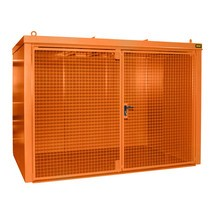Gascilindercontainer met dak voor max. 60 flessen, brandwerend