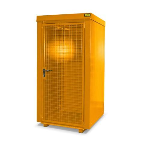 Gascilindercontainer met dak voor max. 9 flessen, brandwerend