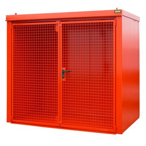 Gasflaschen-Container für max. 45 Flaschen, feuerbeständig