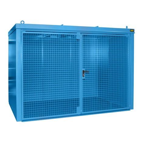 Gasflaschen-Container für max. 60 Flaschen, feuerbeständig