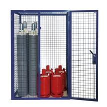 Gasflaschen-Gitterschrank, Doppelflügeltür, Sockelfüße