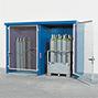Gasflaschen-Lager F90. Brandgeschützt. Mit feuerverzinkter Gittertür