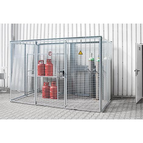 Gasflaschen-Lagerbox TRG 280. Ohne Dach, Höhe 2060 mm