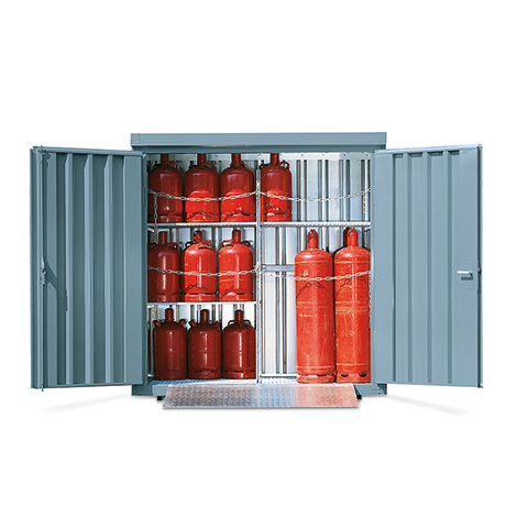 Gasflaschen-Lagercontainer