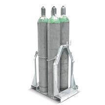 Gasflaschen-Palette für 4 Gasflaschen