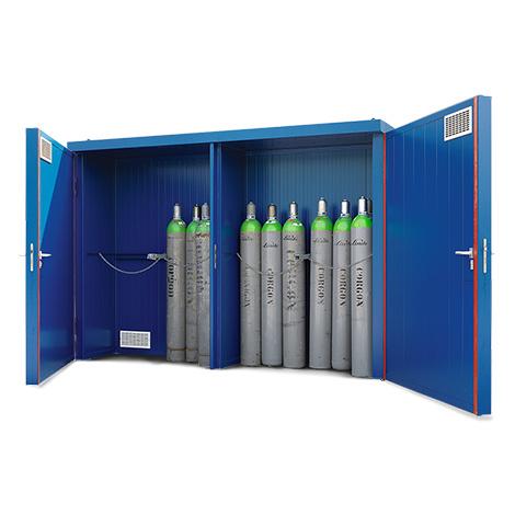 Gasflaschenlager F90 mit brandgeschützten Türen