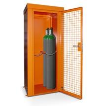 Gasflaskcontainer med tak för max. 28 flaskor, brandbeständig