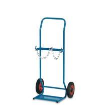 Gasflessenwagen fetra® voor 2 stalen flessen van 10 liter. Capaciteit 50kg