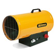 Gasheizer Wilms®. Heizleistung 25 - 100kw, Automatik