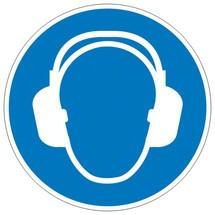 Gebodsbord gehoorbescherming gebruiken