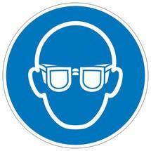 Gebodsbord oogbescherming gebruiken