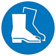 Gebotsschild Fußschutz tragen