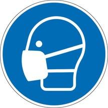 Gebotsschild 'Mund-Nasen-Schutz benutzen'
