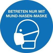 Gebotsschild 'Mund-Nasen-Schutz benutzen', 4er-Set